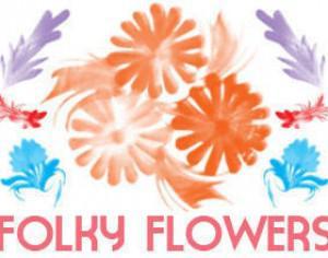 Folky Flowers Photoshop brush