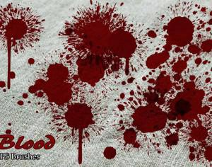 20 Blood Splatter PS Brushes abr vol.6 Photoshop brush