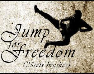 Jumping Brushes for freedom (25 set Brushes) Photoshop brush