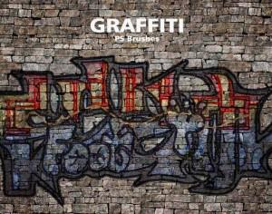 20 Graffiti PS Brushes abr. Vol.7 Photoshop brush