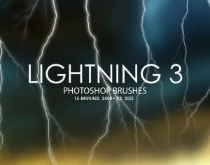 Free Lightning Photoshop Brushes 3 Photoshop brush
