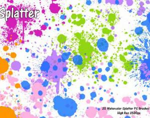Watercolor Splatter PS Brushes abr Photoshop brush