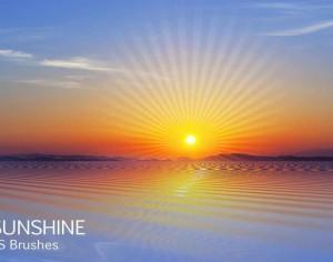 20 Sunrise PS Brushes abr Vol.9 Photoshop brush