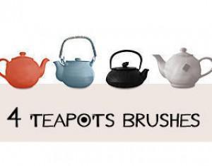 4 Teapots Brushes Photoshop brush