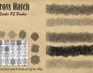 Cross Hatch Scatter PS Brushes abr Photoshop brush