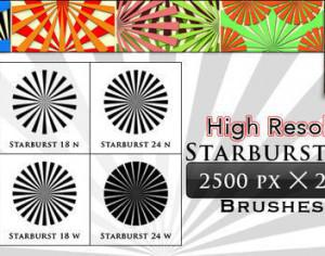 Starburst Brushes (6 Hign Resolution Brushes) Photoshop brush