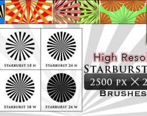 Starburst Brushes (6 Hign Resolution Brushes) Photoshop brush