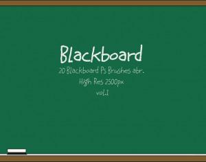 20 Blackboard Ps Brushes abr. vol.1 Photoshop brush