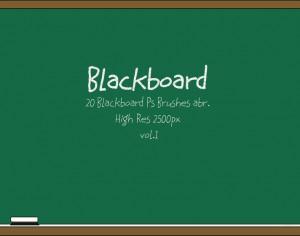 20 Blackboard Ps Brushes abr. vol.1 Photoshop brush