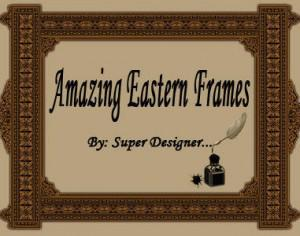 Amazing Eastern Frames ;)  Photoshop brush