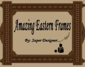 Amazing Eastern Frames ;)  Photoshop brush
