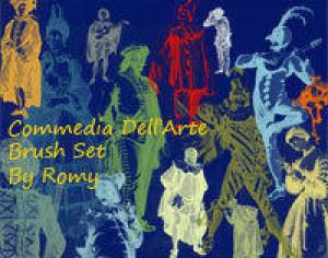 Commedia Dell'Arte Photoshop brush