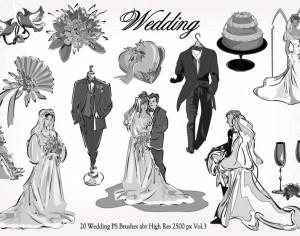 20 Wedding PS Brushes abr  vol.3 Photoshop brush