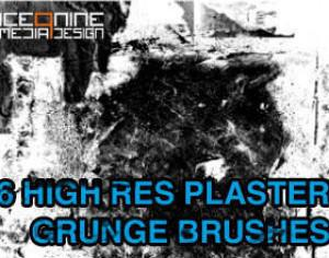 Ice 9 High Res Plaster Grunge Brushes Photoshop brush