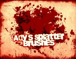 Ady's Splatter Brushes Photoshop brush
