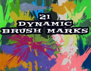 21 Dynamic Brush Marks Photoshop brush