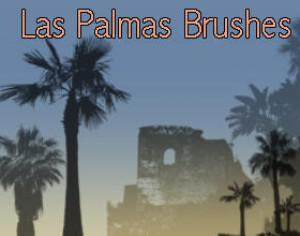 Las Palmas Palm Tree Brushes  Photoshop brush