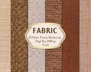 20 Fabric Texture Brushes.abr Vol.6 Photoshop brush