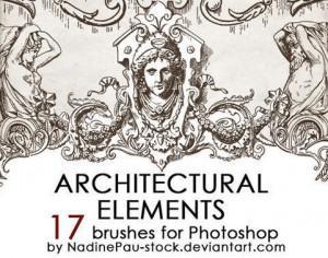 Architectual ornaments brushes Photoshop brush