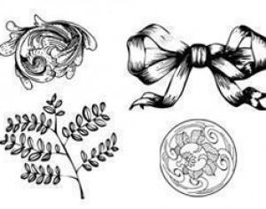 Free Etched Ornament Brushes Photoshop brush
