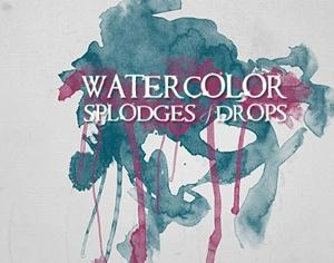 Watercolor Splodges Photoshop brush