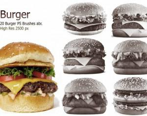 20 Burger PS Brushes abr. vol.2 Photoshop brush