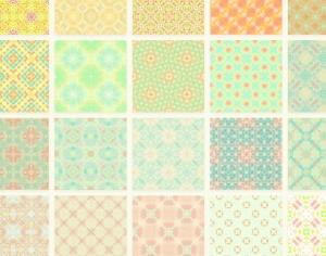 Sweet Colorful Patterns Set Photoshop brush