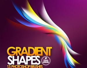 Gradient Shapes Photoshop brush