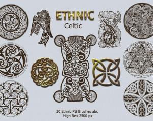 20 Ethnic PS Brushes abr. vol.3 Photoshop brush