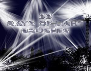 22 Rays of Light Brushes Photoshop brush