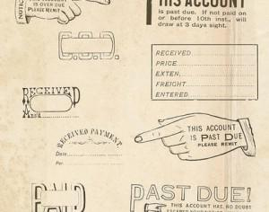 Vintage Office Rubber Stamps Brushes Photoshop brush