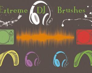 Extreme DJ Brushes Photoshop brush
