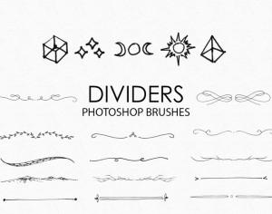 Free Hand Drawn Dividers Photoshop Brushes Photoshop brush