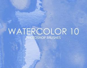 Free Watercolor Photoshop Brushes 10 Photoshop brush