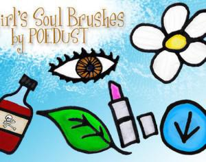 Girl's Soul Brushes by Poedust Photoshop brush