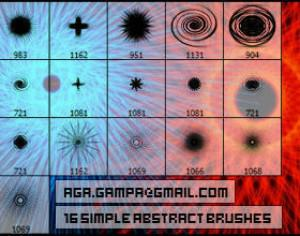 16 simple abstract brushes Photoshop brush