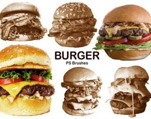 20 Burger PS Brushes abr. vol.6 Photoshop brush