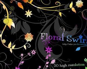 Free Floral Swirls