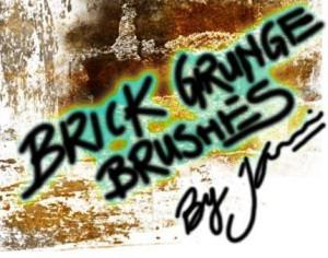 Grungy Brick Brushes  Photoshop brush