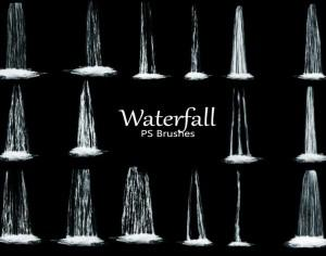 20 Waterfall PS Brushes abr. Vol.5 Photoshop brush