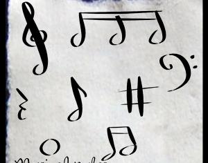 Musical Notes Photoshop brush