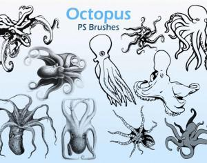 20 Octopus  PS Brushes abr. Photoshop brush