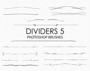 Free Hand Drawn Dividers Photoshop Brushes 5 Photoshop brush
