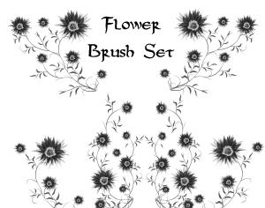 Flower Photoshop brush