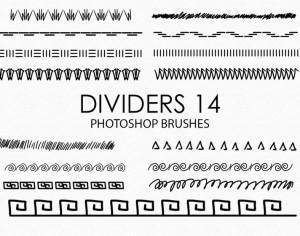 Free Hand Drawn Dividers Photoshop Brushes 14 Photoshop brush