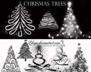 Christmas Tree brushes Photoshop brush