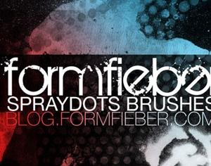 Spray Dots Photoshop brush