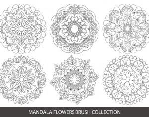 Mandala Flower Brush Collection Photoshop brush
