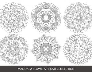 Mandala Flower Brush Collection Photoshop brush