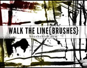 Walk the Line Brush Pack Photoshop brush